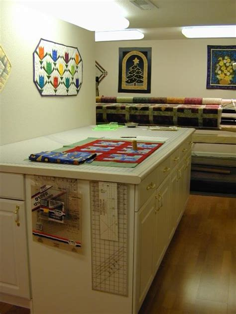 cutting table quilting sewing room