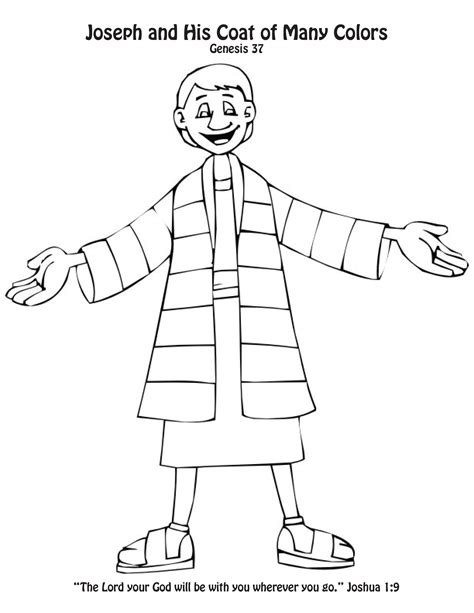 code of many colors joseph s coat of many colors craft coloring page toddlers