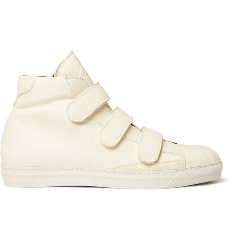 sneakers with velcro straps mcqueen velcro high top leather sneakers