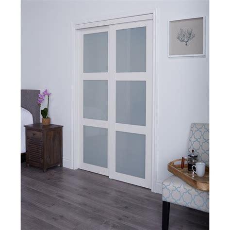 sliding glass doors for closet erias home designs baldarassario mdf 2 panel painted sliding interior door reviews wayfair ca