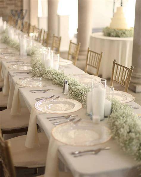 Elegant & Understated Gypsophila As Wedding Decor   Mon