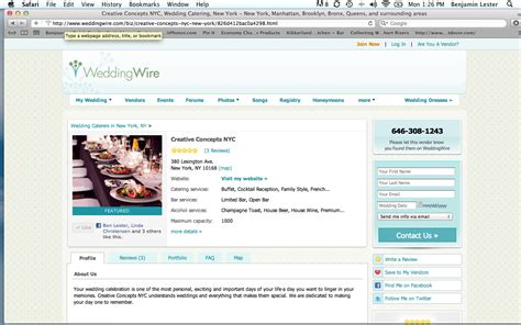 weddingwire network catering creative concepts nyc