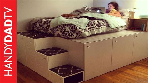 ikea platform storage bed ikea hack platform bed diy doovi