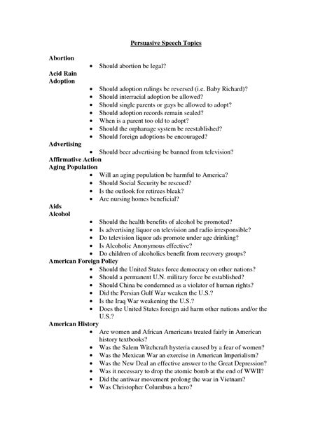 Topic Presentation Outline by Persuasive Essay Topics For College Essays