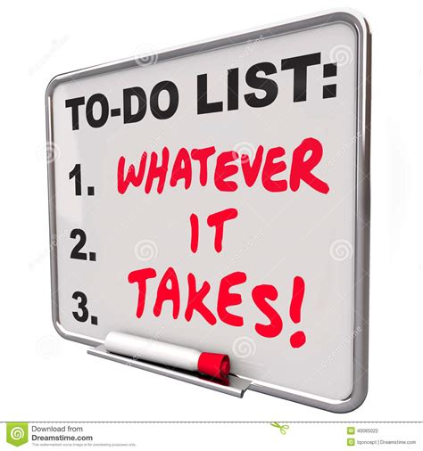 Do Your Thumbs What It Takes by Whatever It Takes Motivational Saying Quote To Do List