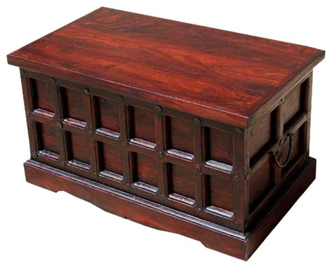 Beaufort Solid Wood Storage Chest Trunk Box Coffee Table Decorative Trunks For Coffee Tables