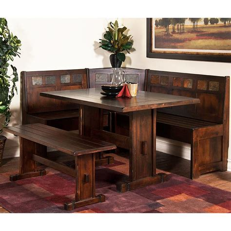 corner breakfast nook furniture santa fe collection santa febreakfast nook set 0230dc