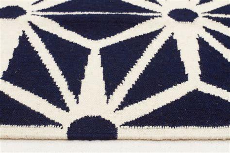 Navy Runner Rug Dandelion Wool Flat Weave Rug Navy Runner Wool Kilims Beyond Bright