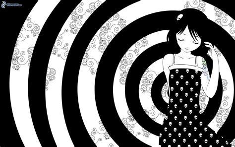 imagenes a blanco y negro de amistad dibujos animados de chica