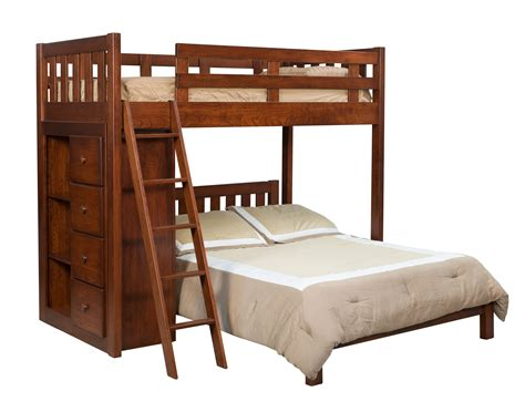 bunk bed with bookcase bunkbed w bookcase hardwood creations