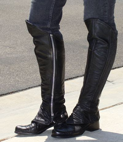motorcycle half boots motorcycle half chaps leather half chaps large view