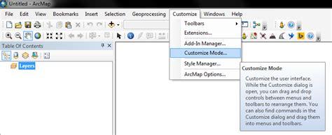 arcgis tools tutorial arcgis desktop tutorial on customizing arcmap toolbars
