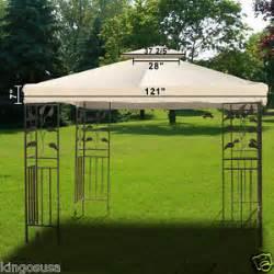 Waterproof Gazebo Canopy Replacement by Outdoor Canopy Replacement 10x10 Gazebo Patio Top Cover Uv