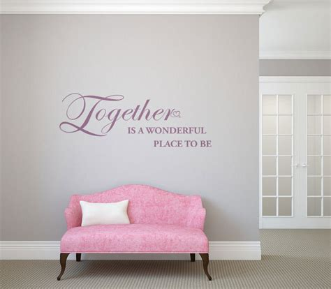 mooie muurstickers woonkamer together is a wonderful place to be tekst op de muur