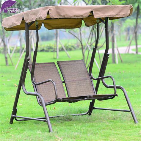balcony swing chair aliexpress buy purple leaf outdoor patio swing