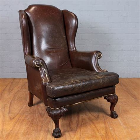 vintage leather armchair 240406 sellingantiques co uk