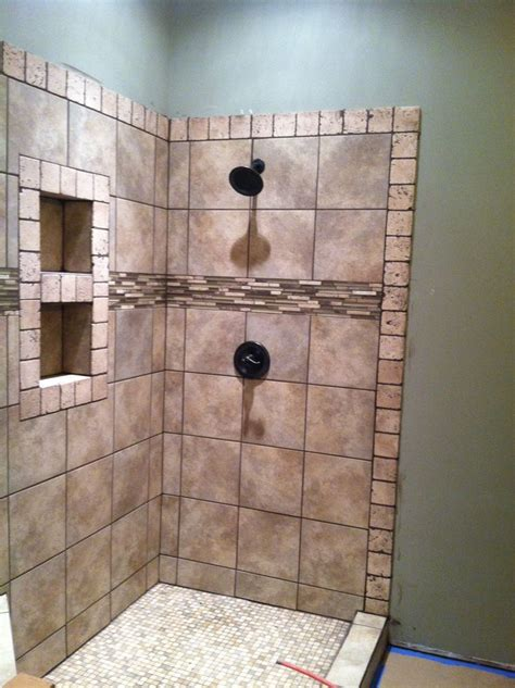 master bathroom tiled shower bathroom ideas