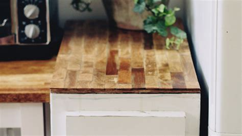 Painting Butcher Block Countertops by Build A Cheap Diy Butcher Block Countertop With Plywood