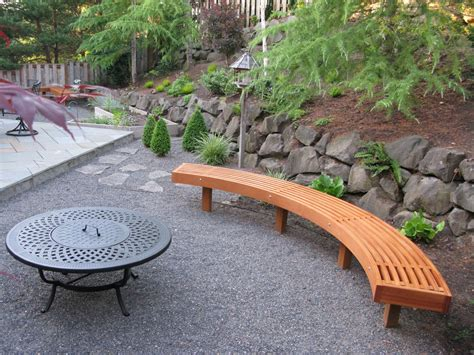 fire pit bench seating curved garden bench from cedar laminations