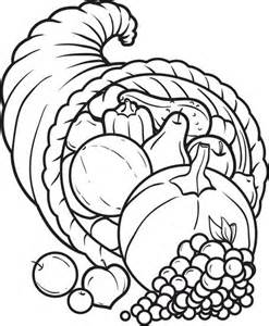 cornucopia coloring page free printable cornucopia thanksgiving coloring page for