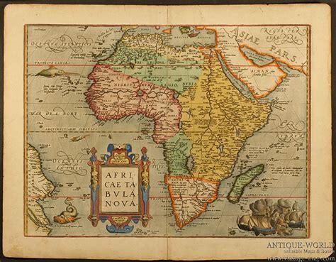 africa map vintage africae tabula ortelius africa continent 1598