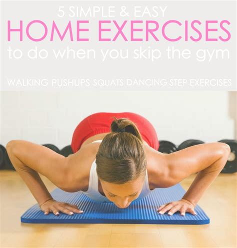 home exercises to do when you skip the