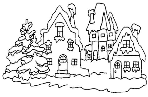 village free colouring pages