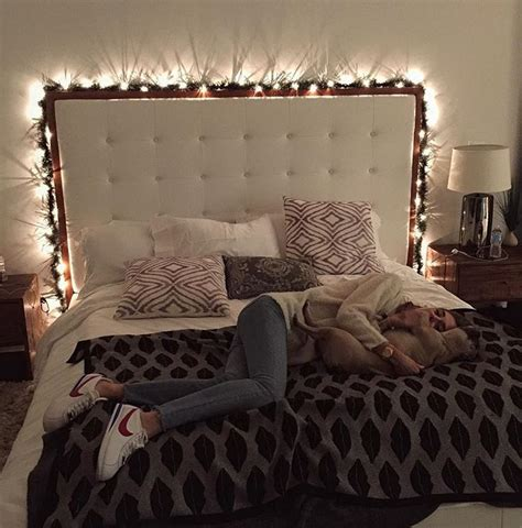 Xmas Lights Around Bed Decorating Ideas Pinterest Lights Around Bed