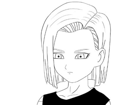 android draw how to draw anime character android 18 how to draw
