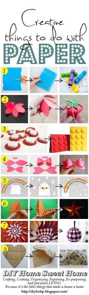 How To Make Something Creative With Paper - diy home sweet home creative things to make from paper