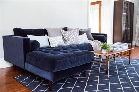 article sven sofa review a living room update our new velvet sofa the sweetest