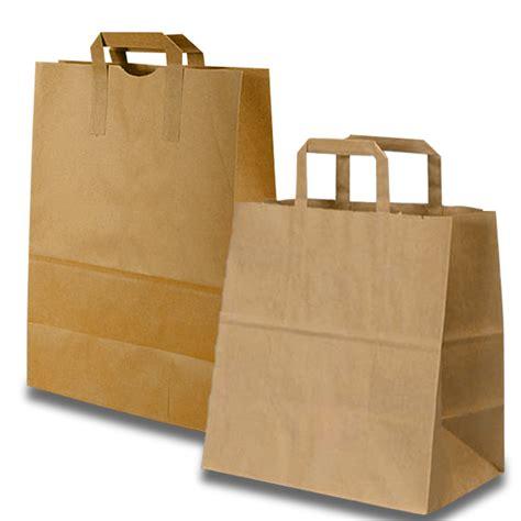 Paper Bags For - kraft flat handle grocery bag