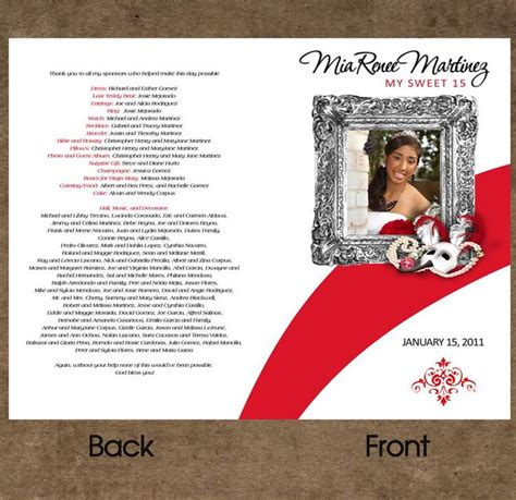 quinceanera program templates pin by denys wachterdorff on quince 241 era