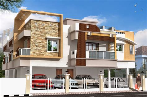 Home Floor Plans With Cost To Build by Luckydesigners 3d Elevation Residential Building