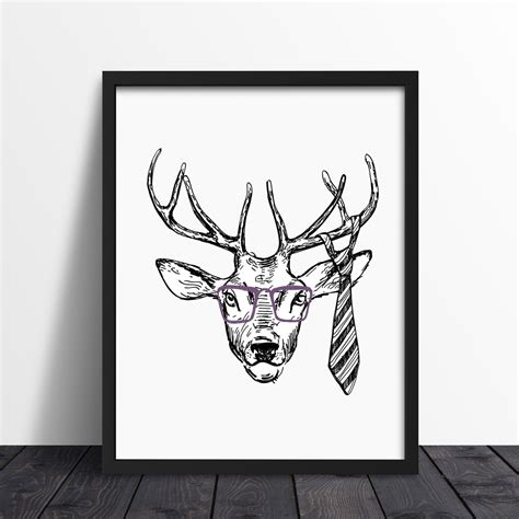 Christmas Home Decor by Decoracion Nordica Cuadro Hipster Deer