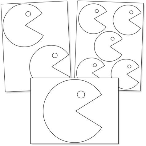 pacman template printable pacman patterns from printabletreats