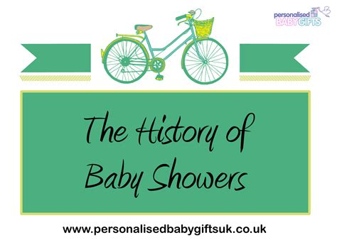 History Of Showers by Personalised Baby Gifts History Of The Baby Shower
