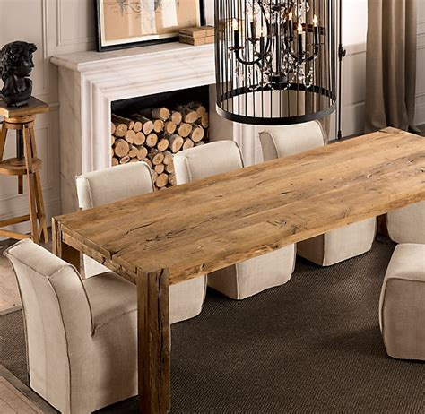 Parsons Reclaimed Russian Oak Dining Table All Parsons Dining Table Rectangle