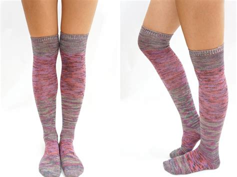 knitted thigh high socks pastel block knitted thigh high knee high socks mix on