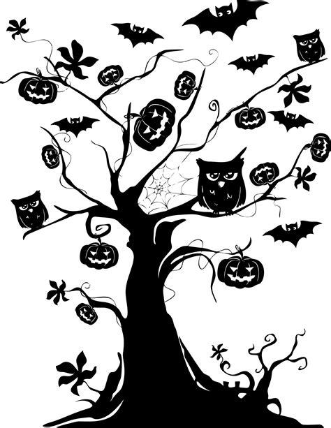 halloween tattoo png clipart halloween tree silhouette
