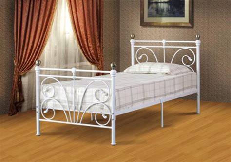 Clearance Beautiful Ornate Metal Bed Frame Ivory Gold In Ornate Metal Bed Frame