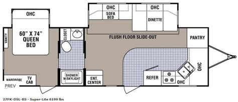 Cing Trailer Floor Plans | cing trailer floor plans 28 images travel trailer