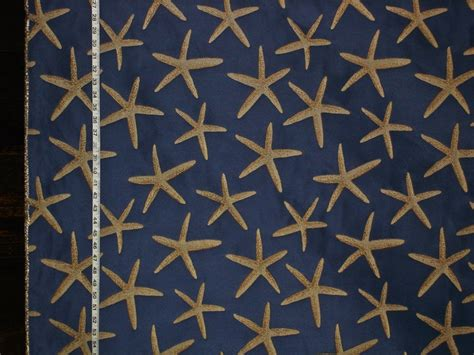 blue starfish fabric sea upholstery from brick