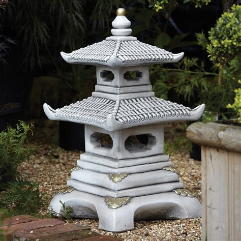 Pagoda Garden Decor Two Tier Japanese Pagoda Lantern Garden Ornament S S Shop