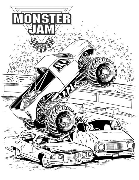 monster truck jam videos for kids monster jam crushing cars coloring pages stuff