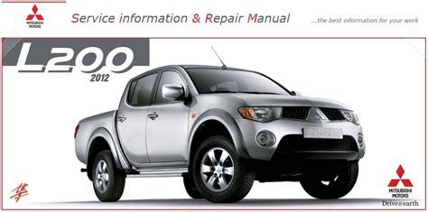 mitsubishi services mitsubishi l200 factory service manual pdf auto repair