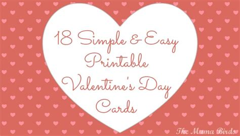 valentines day template card maker 18 simple easy printable s day cards the