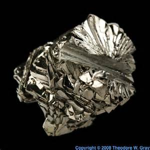 Protons Of Titanium Bar A Sle Of The Element Titanium In The