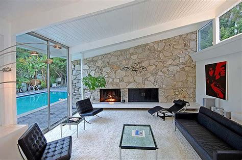 Mid Century Modern Fireplace by Time To Cozy It Up Modern Nc Homes For Sale