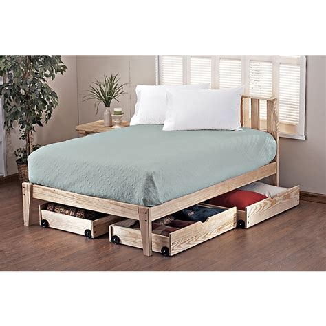 platform twin bed frame pine rock platform twin bed frame 113111 bedroom sets at sportsman s guide